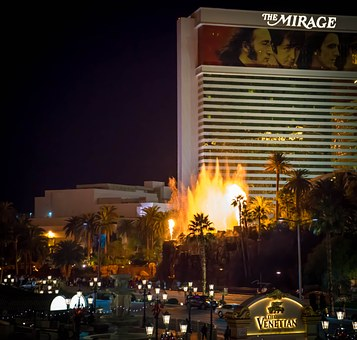 Mirage, Las Vegas, Fire Enhibit, Landscape, View