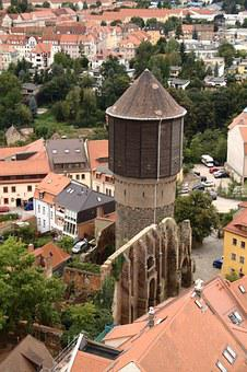 Bautzen, Water Tower, Mönchskirche, View, City, Germany