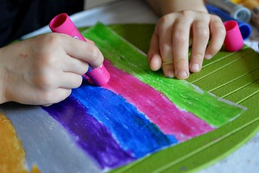 Painting, Child, Paint, Paint Stick, Colored, Colors