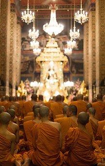 Buddhism, Temple, Monks, Thailand, Bangkok, Prayer
