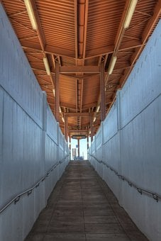 San Jose, California, Tunnel, Walkway, Train Station