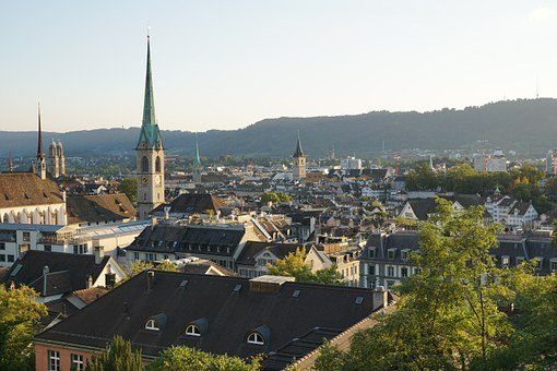 Zurich, Historic Center, Churches, Switzerland, Roofs