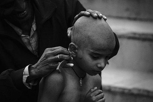 Child, Shaven, Religion, Tradition, Buddhism