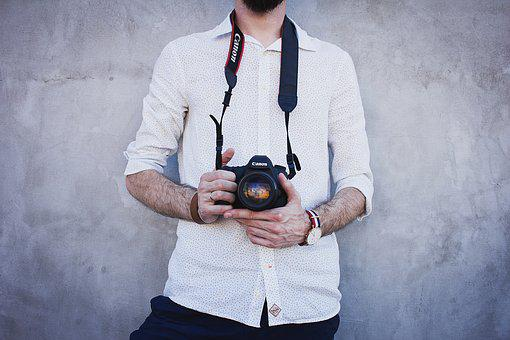 Camera, Canon, Fashion, Hairy, Hands, Long Sleeves, Man