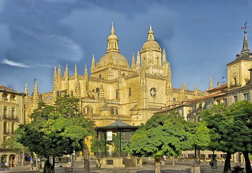 Segovia, Spain, Cathedral, Church, Buildings