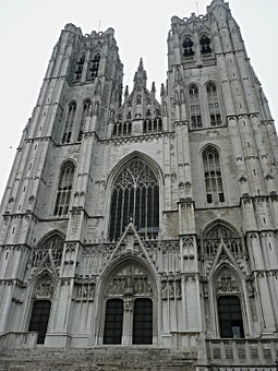 Brussels, Temple, Cathedral, Church, Brussels Cathedral