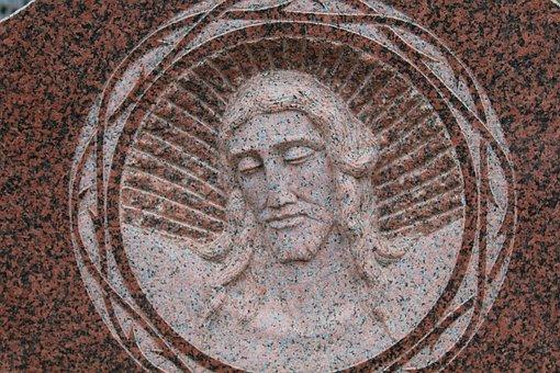 Jesus, Cemetery, Tombstone, Funerary Art