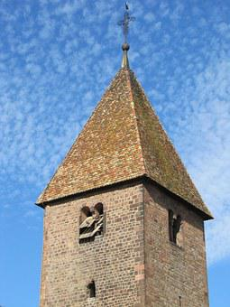 Saint Ulrich, Altenstadt, Alsace, Romanesque, Church