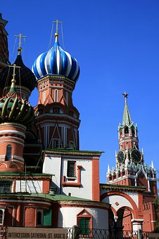 St Basil's Church, Colorful Cupolas, Patterned Domes