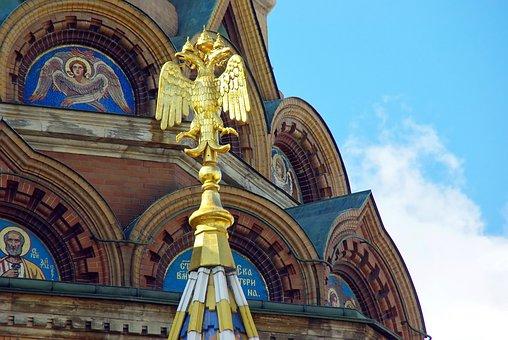 Russia, Moscow, Church, St-basile, Emblem, Eagle