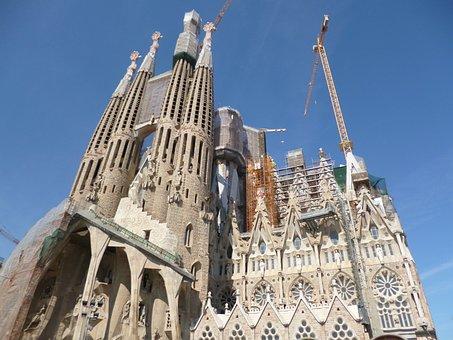 La Sagrada Familia, Gaudí, Barcelona, Church, Facade