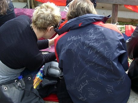Autograph Hunters, Fan, Autograph, Girl, Ski Jumper