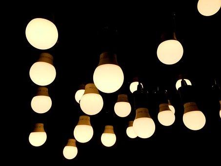 Lights, Light Bulb, Electricity, Energy, Glass, Bright