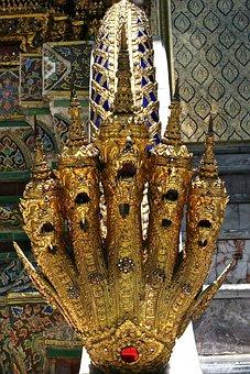 Dragons, Heads, Teeth, Dragon, Art, Horned, Gold
