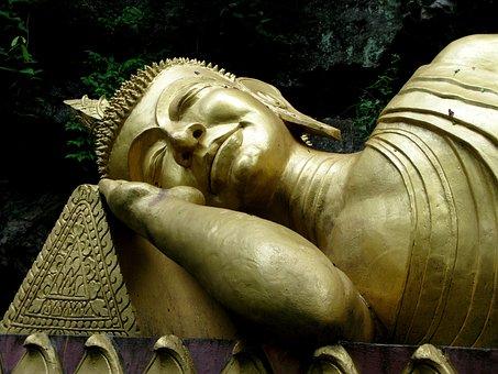 Buddha, Gold, Sleeping