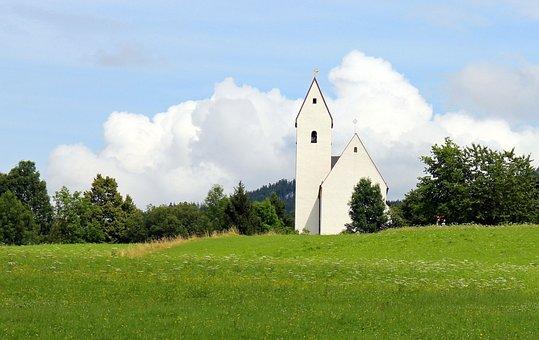 Chapel, Church, More Slowly Mountain, Grain Bach