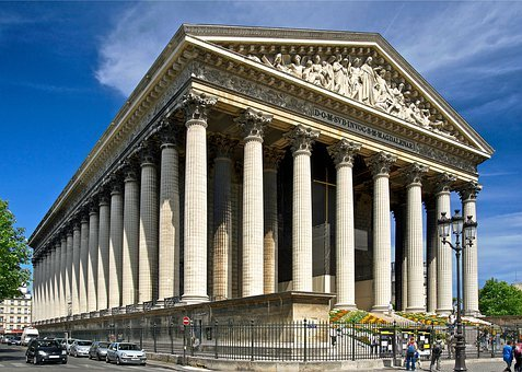 Paris, France, Madeleine Church, Landmark, Historic