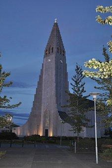 Reykjavik, Iceland, Hallgrímskirkja, Church