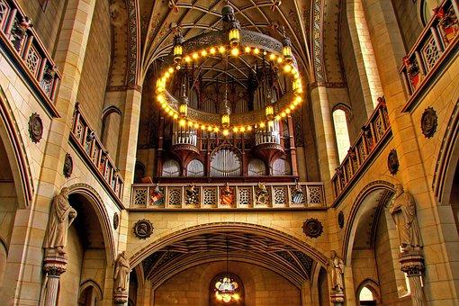 Organ, Church, Instrument Lutherstadt Wittenberg