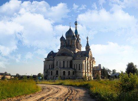 Temple, Kukoba, Sky, Russia, Architecture, Church