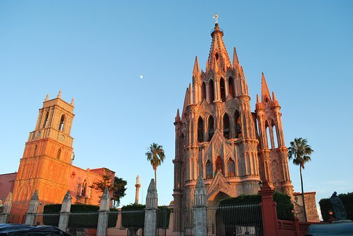 San Miguel De Allende, Mexico, Church, Churches
