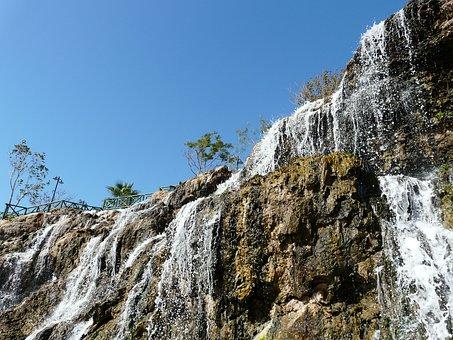 Waterfall, Bach, Water, Murmur, Upper Düden Waterfall