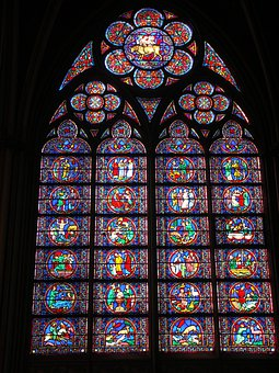 Church Window, Notre Dam, Stained Glass, Cathedral