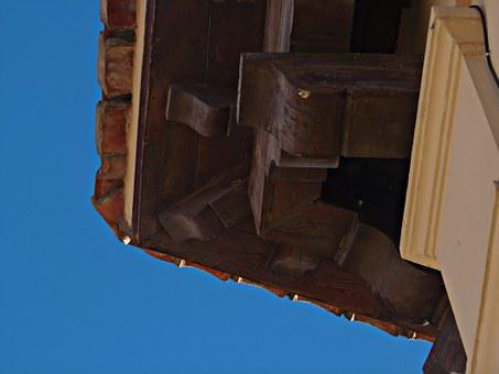 Roof, Mudejar Roof, Wood, Old, Blue, Architecture