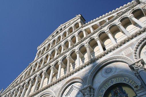 Dome, Cathedral, Pisa, Italy, Piazza Dei Miricole