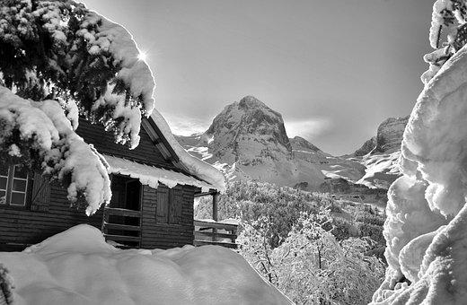 Mountain, Snow, Winter, Pyrénées, Gourette