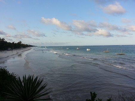 Diani Beach, Kenia, Africa, Sand, Ocean, Paradise
