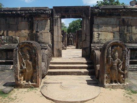 Ancient, Ruins, Stones, Stone, Sri Lanka, Polonnaruwa