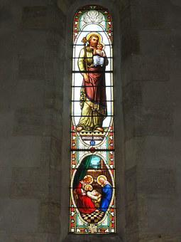 Belin, Gironde, Church, Window, Stained Glass