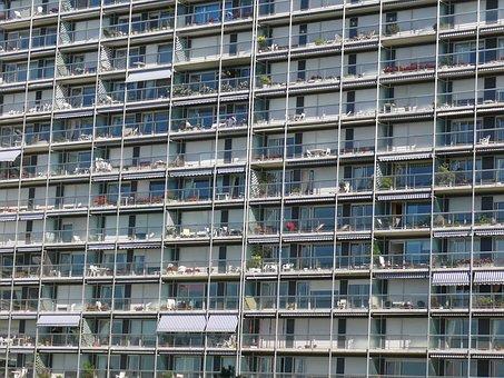 Building, Apartment, Terrace, Architecture