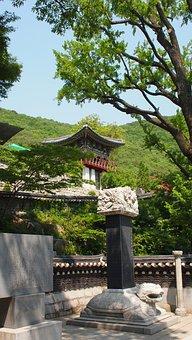 Temple, Korea, Kanghwa, Architecture, Building