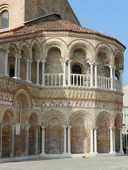 Venice, Murano, Church, Italy, Architecture, Venetian