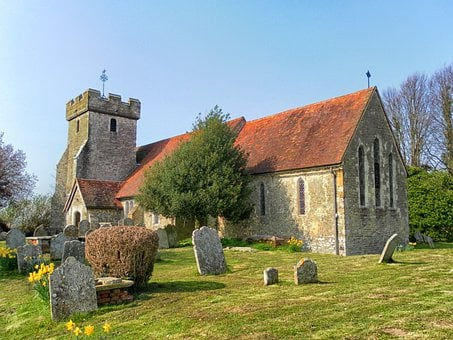 West Sussex, England, Great Britain, Church, Building