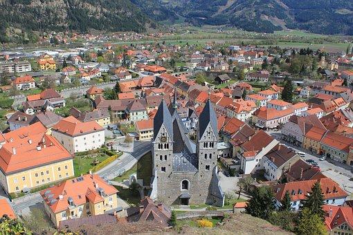 Friesach, Austria, Landscape, Buildings, Church, Houses