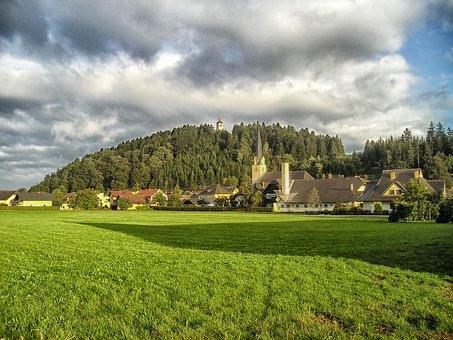 Carinthia, Austria, Village, Buildings, Church