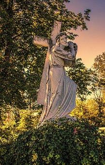 Jesus, Sculpture, Statue, Carving, Cross, Crucifixion
