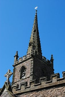 Church, Spire, Cathedral, Cross, Building, Monument