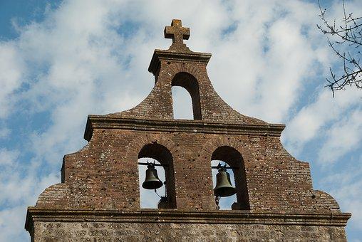 France, Lala, Church, Bell Tower, Bells