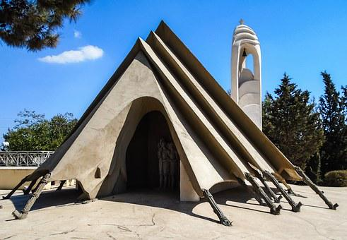 Cyprus, Dasaki Achnas, Church, Monument, Tent