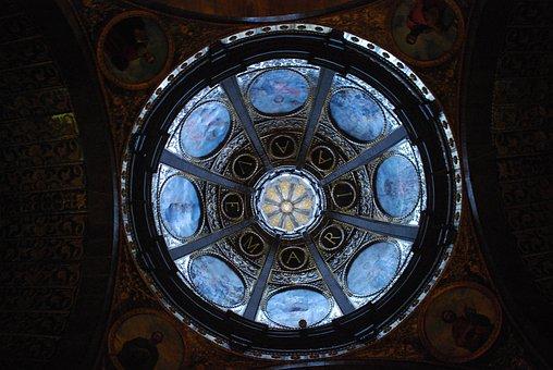 Church, Dome, Lluc, Architecture, Escorca, Spain