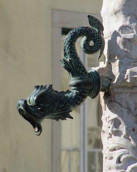 Portugal Aveiro, Fig, Dragon Fountain Figure, Fantasy