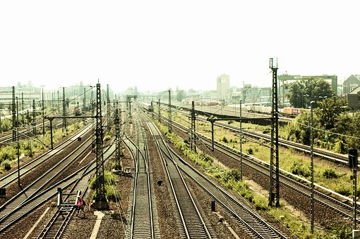 Gleise, Berlin, Train, Mr, Pink