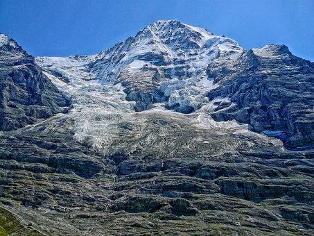 Eiger, Mountain, Suisse, Glacier, Ice, Snow, Mountains