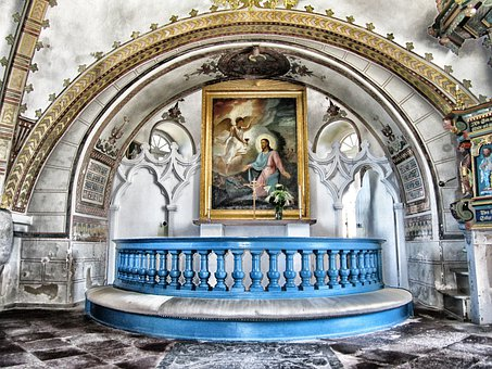 Angelholm, Sweden, Church, Building, Inside, Interior