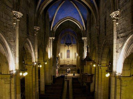 France, Church, Interior, Architecture, Faith, Religion