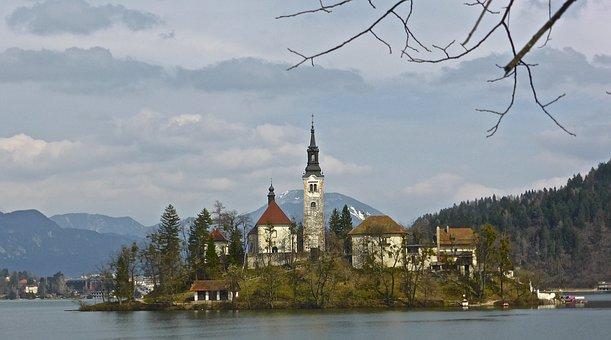 Church, Island, Bled, Historic, Lake, Landmark